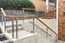 Ipe & Square Stainless Steel Cable Railing - Vancouver, WA