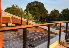 Black Aluminum Cable Railing - Washington, DC