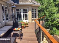 Cedar & Bronze Aluminum Cable Railing - Atlanta, GA