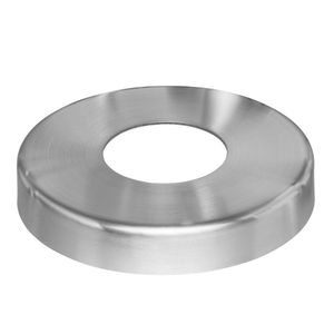 Stainless steel round post flange cover plate for cable railing