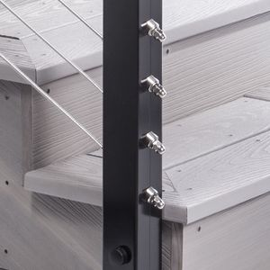 Aluminum cable railing fascia mount terminal post