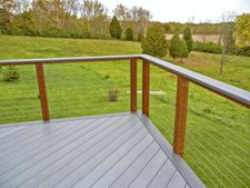 Ipe Wood Cable Railing - Blanchester, OH