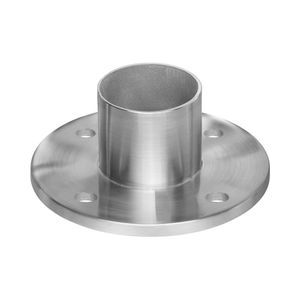 Stainless round cable railing post and rail flange