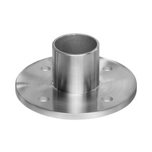 Stainless round cable railing terminal post flange