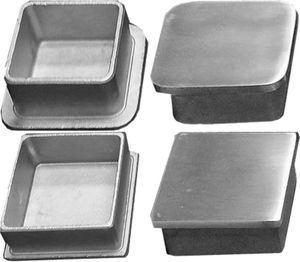 Low post cap for stainless steel square cable railing