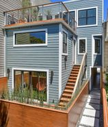 Square Stainless Steel Posts w/ Wood Rail - San Francisco, CA