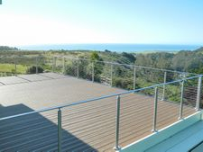 Stainless Round & Rectangular Cable Railing - Half Moon Bay, CA