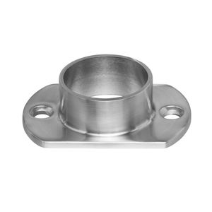 Stainless round narrow post flange for cable railing