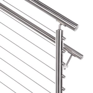 stainless steel round cable railing top rail