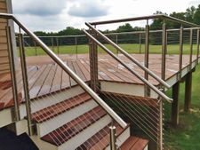 Stainless Steel Round Cable Railing - Granville, OH