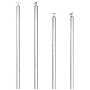 Intermediate cable railing post height and cap options