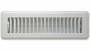 """Accord ABFRWH210  White Finished Metal Floor Register with Louvered Design for 2"""" x 10"""" Duct Opening (66997)"""