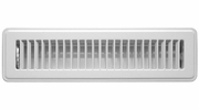 """Accord ABFRWH212  White Finished Metal Floor Register with Louvered Design for 2"""" x 12"""" Duct Opening"""