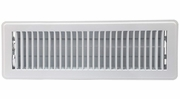 """Accord ABFRWH414  White Finished Metal Floor Register with Louvered Design for 4"""" x 14"""" Duct Opening"""