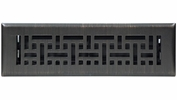 "Accord AMFRRBB212  Oil-Rubbed Bronze Finished Metal Faceplate Floor Register with Wicker Design for 2"" x 12"" Duct Opening"