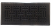 "Accord AMFRRBB410  Oil-Rubbed Bronze Finished Metal Faceplate Floor Register with Wicker Design for 4"" x 10"" Duct Opening"