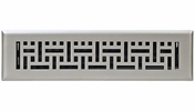 "Accord AMFRSNB212  Satin Nickel Finished Metal Faceplate Floor Register with Wicker Design for 2"" x 12"" Duct Opening"