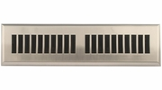 """Accord APFRSNL212  Satin Nickel Finish Plastic Floor Register with Louvered Design for 2"""" x 12"""" Duct Opening"""