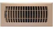 """Accord APFRTPL410  Taupe Plastic Floor Register with Louvered Design for 4"""" x 10"""" Duct Opening"""