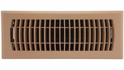 """Accord APFRTPL412  Taupe Plastic Floor Register with Louvered Design for 4"""" x 12"""" Duct Opening"""