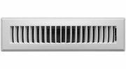 """Accord APFRWHL212  White Plastic Floor Register with Louvered Design for 2"""" x 12"""" Duct Opening"""