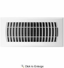 """Accord APFRWHL410  White Plastic Floor Register with Louvered Design for 4"""" x 10"""" Duct Opening"""