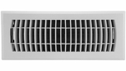 """Accord APFRWHL412  White Plastic Floor Register with Louvered Design for 4"""" x 12"""" Duct Opening (63547)"""