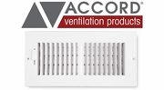 Accord Standard Sidewall/Ceiling Registers with 2-Way Air Deflection Design