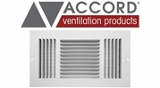 Accord Standard Sidewall/Ceiling Registers with 3-Way Air Deflection Design