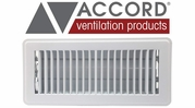 Accord White Standard Metal Floor Registers