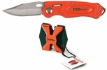 AccuSharp 045  SharpNEasy Blaze Orange 2-Step Knife Sharpener and Sport Knife Combo Pack