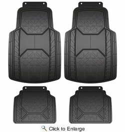Armor All 79960  4 Piece Rubber Value Floor Mat - Black