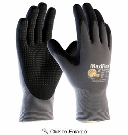 ATG  34-844T  MaxiFlex Endurance Nylon Glove with Nitrile Coated MicroFoam Grip - XLarge