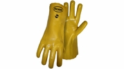 "Boss 1SP8814  Jersey Lined Smooth Grip Yellow PVC Dipped 14"" Gloves - Large"