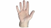 Boss 1UP1204D  4 mil Powdered Vinyl General Grade Disposable Gloves - 100 per Box - Large