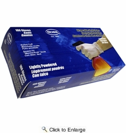 Boss 1UP1204D  4 mil Powdered Vinyl General Grade Disposable Gloves - 100 per Box - X-Large