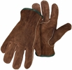 Boss 4066  Brown Split Cowhide Leather Driver Gloves - Medium