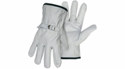 Boss 4070  Standard Grade Grain Cowhide Leather Driver Gloves with Adjustable Strap - Medium