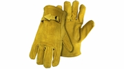 Boss 4071  Standard Grade Split Cowhide Leather Driver Gloves with Adjustable Strap - Medium