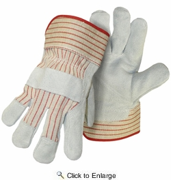 Boss 4092-3  Economy Split Cowhide Leather Palm Gloves - Large - 3 Pair