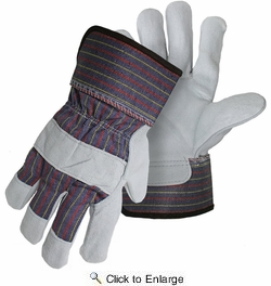 Boss 4094  Standard Grade Split Leather Palm Gloves with Safety Cuff - XX-Large