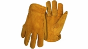 Boss 4176  Men's Pile Insulated Split Leather Driver Gloves - Large