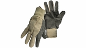Boss 5501  'The Original Plastic Dot' 100% Cotton Gloves with Knit Wrist - Large