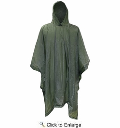 Boss 60  Green Adult Vinyl Rain Poncho with Side-Snaps - 0.10mm