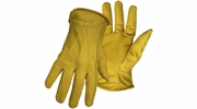 Boss 6036  Premium Grain Cowhide Leather Driver Gloves - Medium