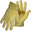 Boss 6039  Premium Grain Cowhide Leather Driver Gloves with Palm Patch - Large