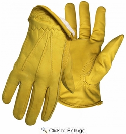 Boss 6133  Cotton Thermal Insulated Premium Grain Cowhide Leather Driver Gloves - Large