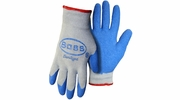 Boss 8422  Double Dipped Blue Latex Palm String Knit Gloves - Large