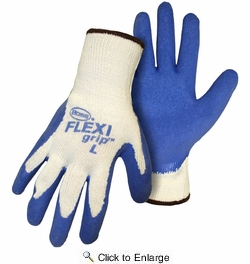 Boss 8426  FLEXI-grip Blue Latex Palm String Knit Gloves - Large