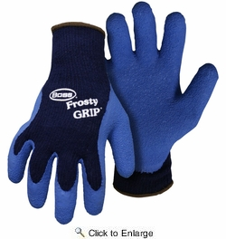 Boss 8439  Frosty Grip Blue Insulated Knit Latex Palm Gloves - X-Large